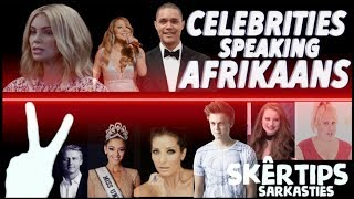 FAMOUS CELEBRITIES SPEAKING IN SOUTH AFRICAN LANGUAGE (AFRIKAANS)