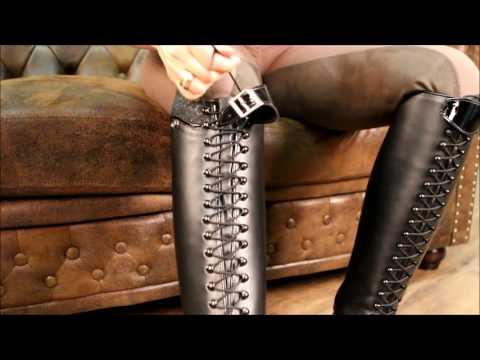 Reitstiefel Healthy Horses Habanero ganz fix komplett geschnürt ohne zusätzlichen Reißverschluss