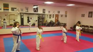 Kids class this week at the dojo Feb 10, 2017