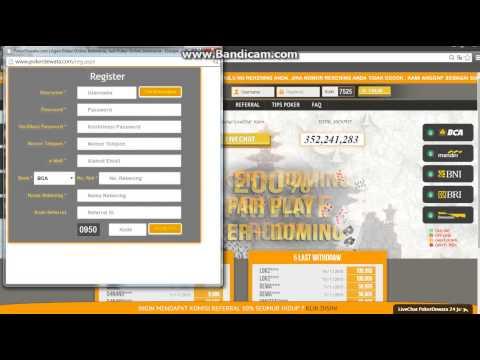 Video Cara Daftar Poker Online di PokerDewata.com Agen Poker dan Domino Online Terpercaya