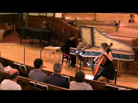 Geminiani - Sonata III for Violoncello and Basso Continuo - Andante, Allegro (Live and Unedited)