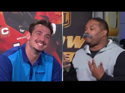 Maurice Jones-Fisher Scolds Paxton Lynch   NFL Now Live Super Bowl 50