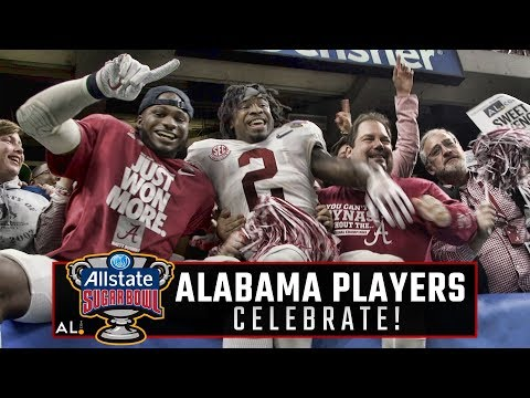 Watch the Crimson Tide players celebrate their 24-6 Sugar Bowl win over Clemson