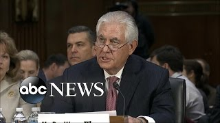 Former Exxon CEO Rex Tillerson Grilled About Russian Foreign Policy at Confirmation Hearings