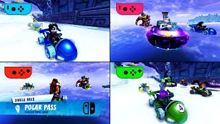 Crash Team Racing Nitro-Fueled - Split screen on Nintendo Switch (4 Players) Gameplay