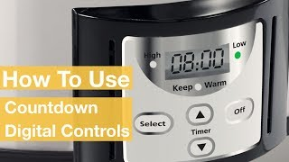 How To Use the Countdown Slow Cooker Digital Controls | Crock-Pot®