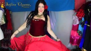 Roupas Ciganas Gypsy Clothing La Ropa Gitana Vestido Vinho Rosé Veludo E Crepe