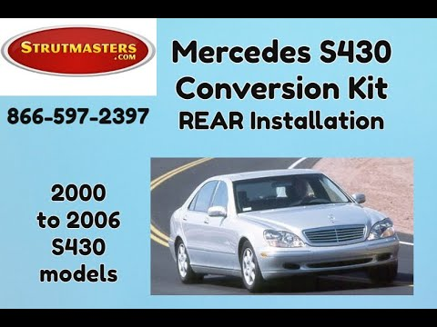 1999-2006 Mercedes S 430 With A Strutmasters Air Suspension Conversion (Rear Install Video)