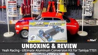 Unboxing: Yeah Racing - Ultimate Aluminum Conversion Kit for Tamiya TT01 (Deutsch / HD)
