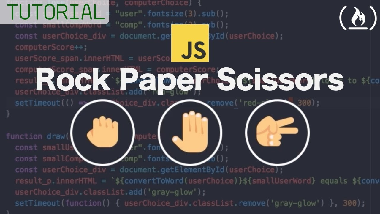 Web Development Tutorial - Rock Paper Scissors