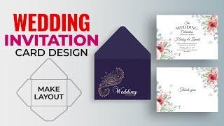 How To Make Wedding Invitation Card Design In Illustrator   Wedding Envelope Design & Dieline #MH