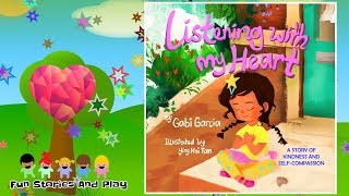 """""""LISTENING WITH MY HEART""""  A SELF-COMPASSION BOOK - Kid Stories Read Alouds 