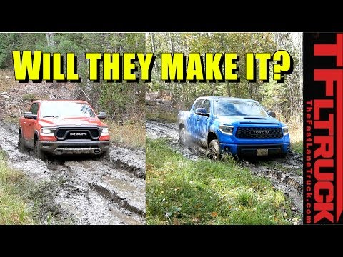 2019 Ram Rebel vs Tundra TRD Pro vs Mud: Which Can Cross The Deepest Goo?