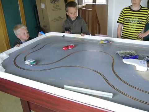 My first routed slot car track