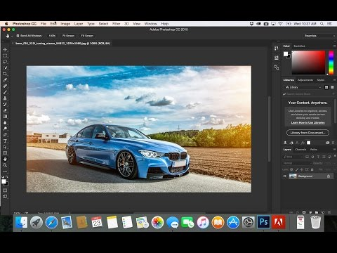 8- PhotoShop CC| | zoom تكبير وتصغير الصور