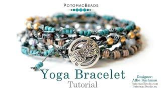 Yoga Bracelet - DIY Jewelry Making Tutorial By PotomacBeads