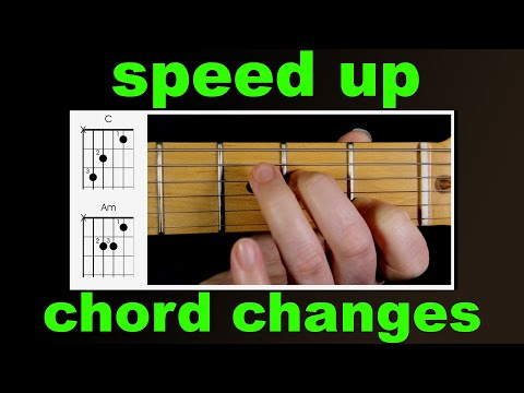 Guitar chords - how to speed up chord changes.