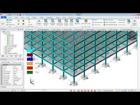 How to create slab and load application in TEKLA STRUCTURAL