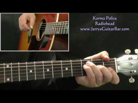 Karma Police Radiohead Fingerstyle Guitar With Tabs