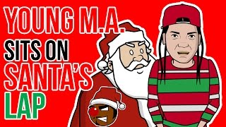 Young M.A. Sits on Santa's Lap