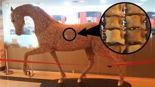 Конь, сделанный из ... баранов. Необычное искусство