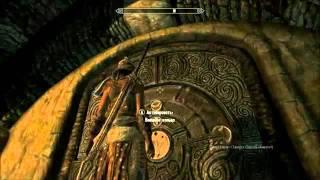 Skyrim-Ветреный Пик Храм Святилище Дверь