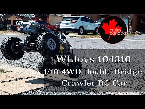 WLtoys 104310 1:10 4WD Double Bridge Crawler RC Car | My First RC Car