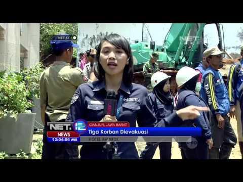 Kabar Terbaru Proses Evakuasi Korban Reruntuhan Hotel Cianjur - NET12