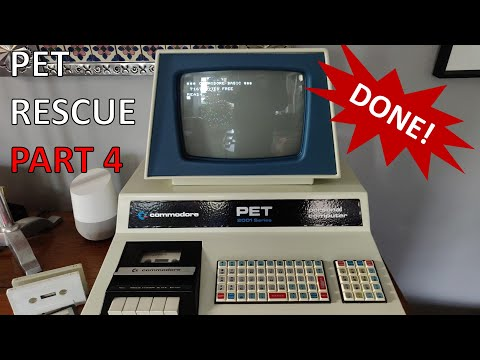 PET Rescue Part 4 - It's done! (Fixing the Datasette and keyboard, again)
