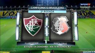 Gols, Fluminense 2 X 2 Santa Cruz - Brasileirão 21/05/2016 [HD]