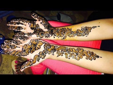 bridal black shaded mehndi design tutorial for weddings by mehndi artistica