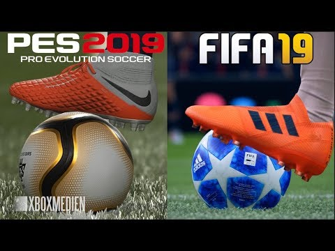 FIFA 19 vs PES 2019 Graphics Comparison (Xbox One, PS4, PC)