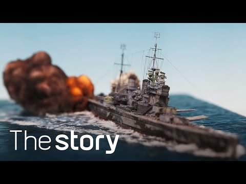 Diorama maker constructs ultra-realistic naval warfare scenes that are in mid explosion [5:10]