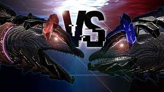 ARK: Survival Evolved - TEK MOSASAURUS VS TEK TREX LASER FIGHT, FUNNY BATTLES - Update Gameplay