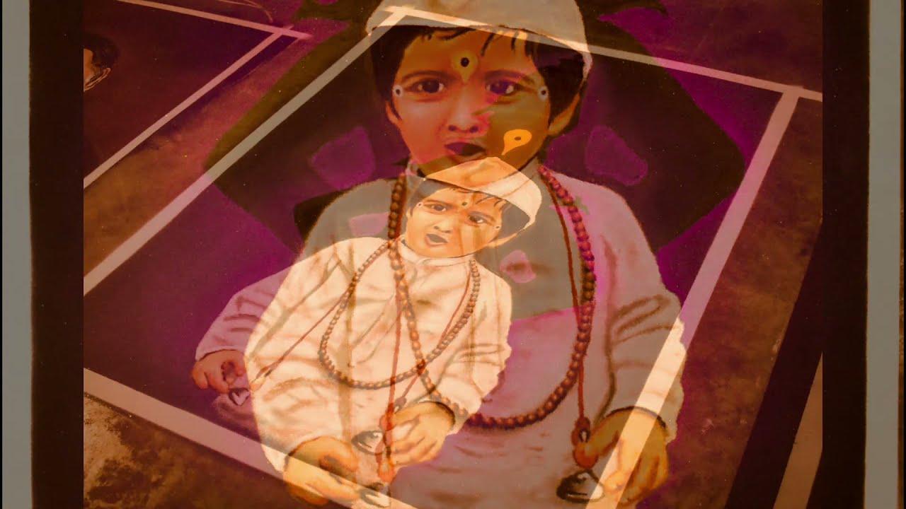 portrait rangoli art little varkari by rohit bhoir