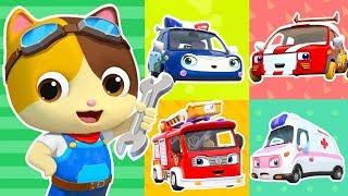 Cuộc đua của 5 chiếc xe nhỏ | Bài hát xe cứu hỏa | Nhạc - Hoạt hình thiếu nhi hay | BabyBus