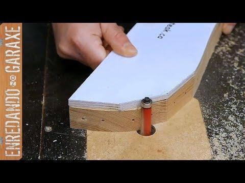 Cómo fresar las piezas de la silla Adirondack de jardin