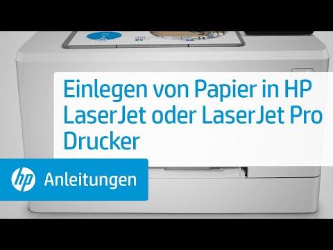 Papier in Ihren HP LaserJet Drucker einladen