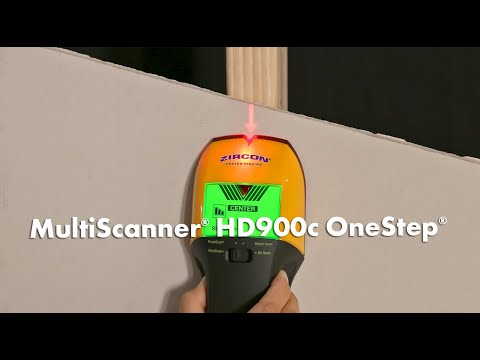 Find Studs with Zircon MultiScanner HD900c Stud/Metal/AC Finder with ColorTrip Display