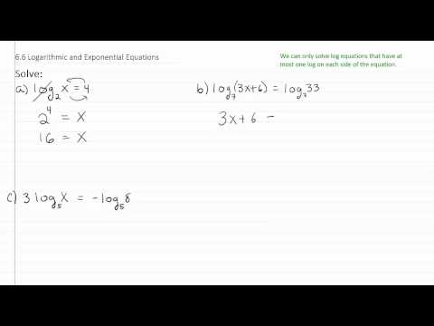Solving Exponential & Log Equations p1