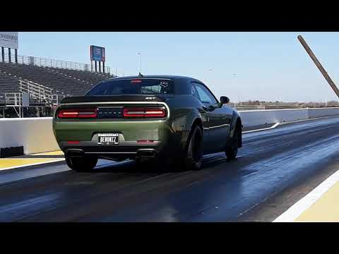 Stock Dodge Demon pulling the front wheels!