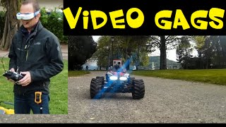 PRANKS - VOICE ON FPV RC CAR - VIDEO GAGS - FUNNY JOKES