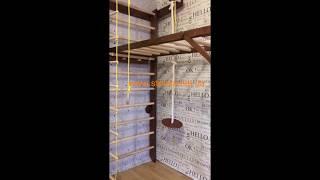 Шведская стенка и складной рукоход из дерева, Тон 2 от компании SportStenkaUA Шведская стенка, спортивный уголок с производства, Киев - видео