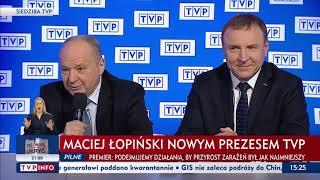 Maciej Łopiński nowym prezesem TVP