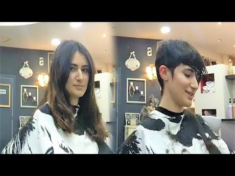 Amazing haircut long hair to pixie cut woman transformation - Short haircut Makeover