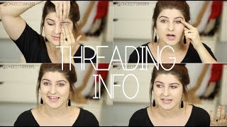 all about eyebrow threading! ☠ FAQ + tips.