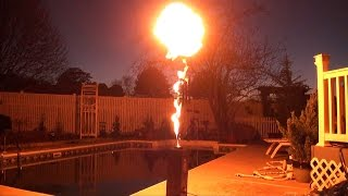 DMX Fire Machine - Flame Thrower Demonstration - Halloween