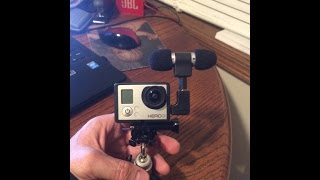 External mic for GoPro Hero 3 + Adapter + Open Style Frame Housing Setup Review - Way better sound!