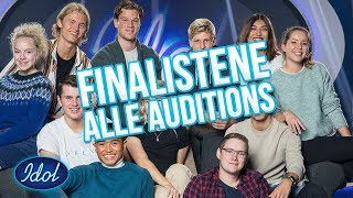 Finalistene - Alle Auditions (TOPP 11)    Idol Norge 2018