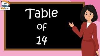 Table of 14  | Rhythmic Table of fourteen | Learn Multiplication Table of 14 x 1 = 14 | kidstartv